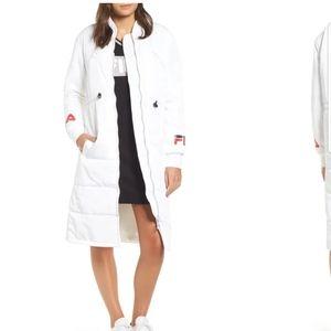 New Fila Elisa White Long Puff Coat